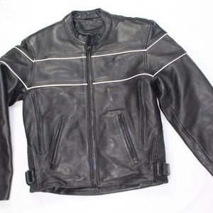 Fox creek real leather motorcycle jacket